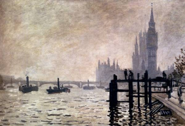 Monet The Thames And The Houses Of Parliament